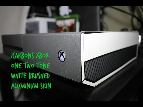 Xbox One Two Tone -White Brushed Aluminum skin from iCarbons!