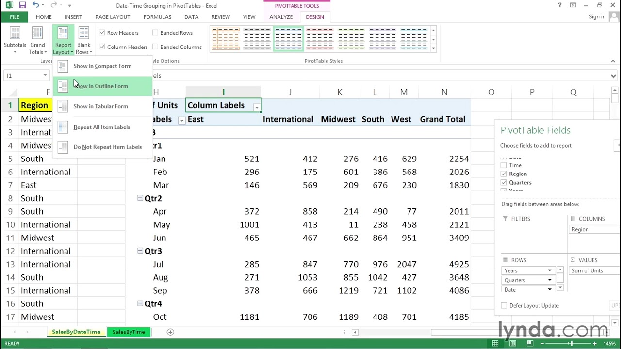 Using Date And Time As Metrics In A Pivottable Excel Tips Lynda