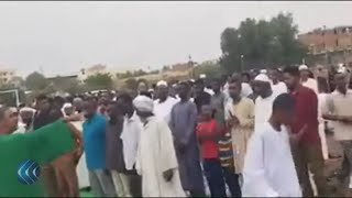 شاهد | المعارضة السودانية تؤدي صلاة عيد الفطر صباح اليوم
