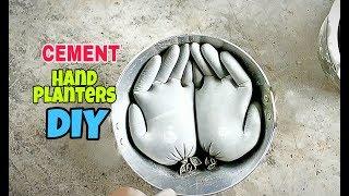 Cement Hand Planters || DIY