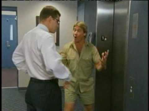 Steve Irwin vs Florida mascot — Old sportscenter commercial