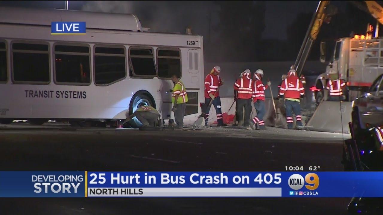 25 Hurt In Bus Crash On 405