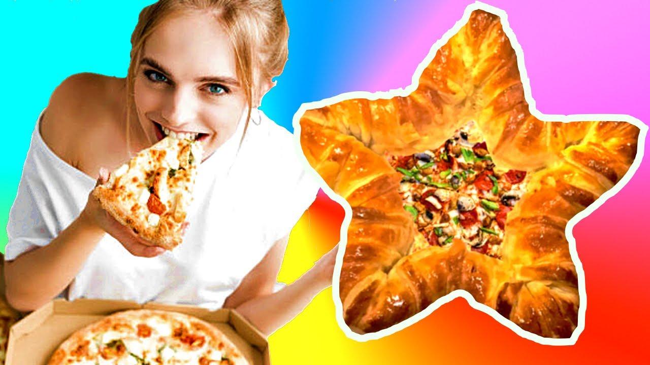 Haz pizza con forma de estrella. Ideas fáciles de Comidas Navideñas