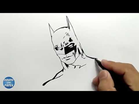 Very Easy How To Draw Batman Drawing Doodle Art For Kids Youtube
