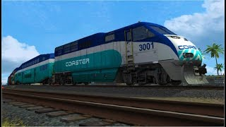 Coaster and Amtrak Trains in Oceanside - TS2019