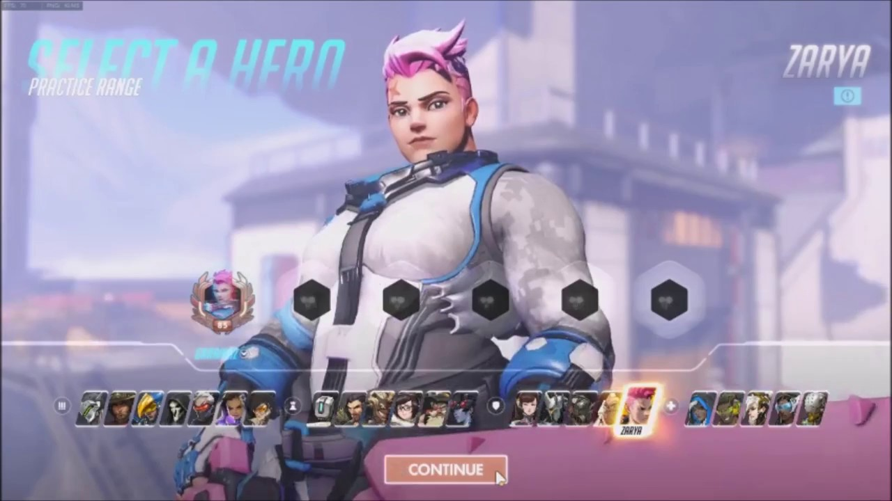 Overwatch] Zarya - Frosted [In-Game Skin Showcase] 자리야 - YouTube