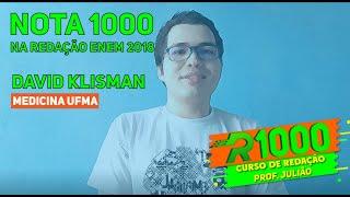 Quer tirar uma nota 1000 na Redação ENEM ? O segredo é revelado! David Klisman