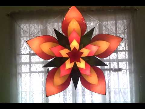 Home made xmas parol youtube for Recycled paper lantern