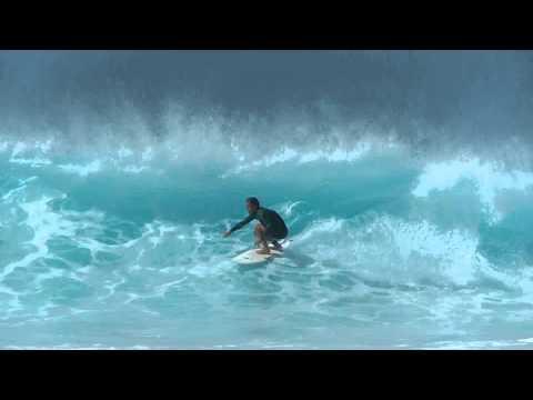 Surfing in Ponta Preta. Cabo Verde. Sal
