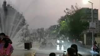 रावेत येथील एमआयडीसीला पाणीपुरवठा करणारी पाण्याची पाईपलाईन फुटली
