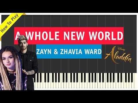 Zayn & Zhavia Ward - A Whole New World - Piano Cover - Aladdin Soundtrack (Sheet Music & Tutorial)