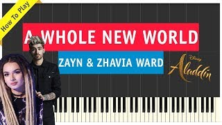 Zayn & Zhavia Ward - A Whole New World - Piano Cover - Aladdin Soundtrack (Sheet Music & Tutorial)