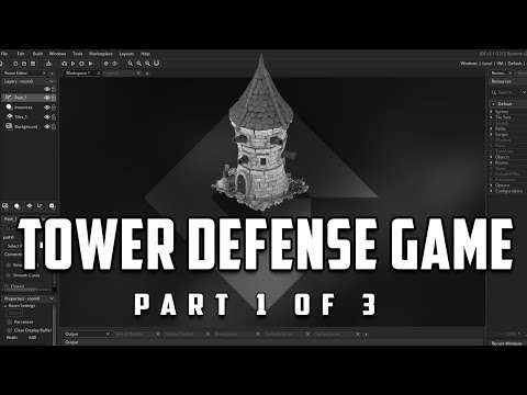 Game Maker Studio 2: Tower Defense Game 1/3