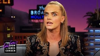 Cara Delevingne Pranked Some of Taylor Swift's Squad by : The Late Late Show with James Corden