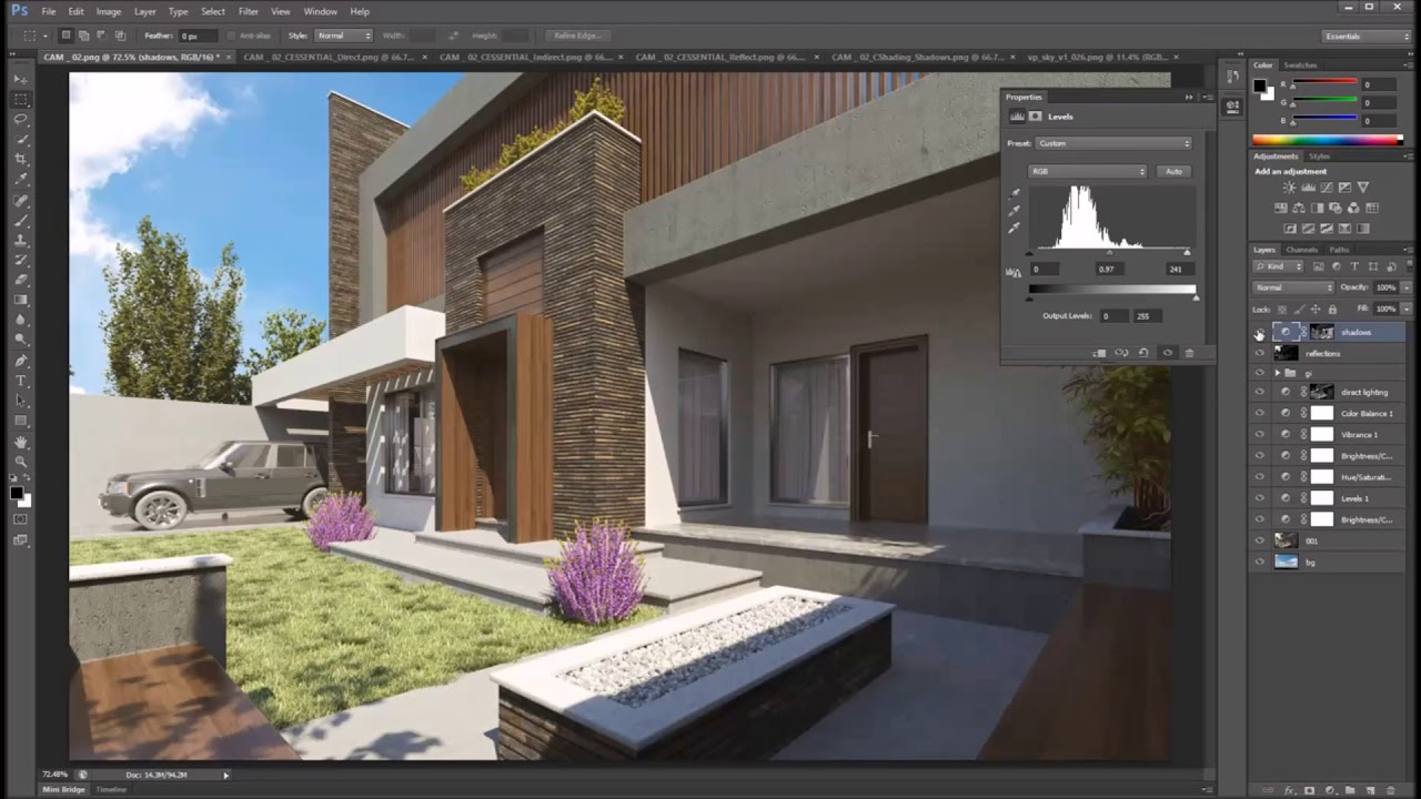 Exterior post production for 3d max rendering photoshop tutorial exterior post production for 3d max rendering photoshop tutorial baditri Images