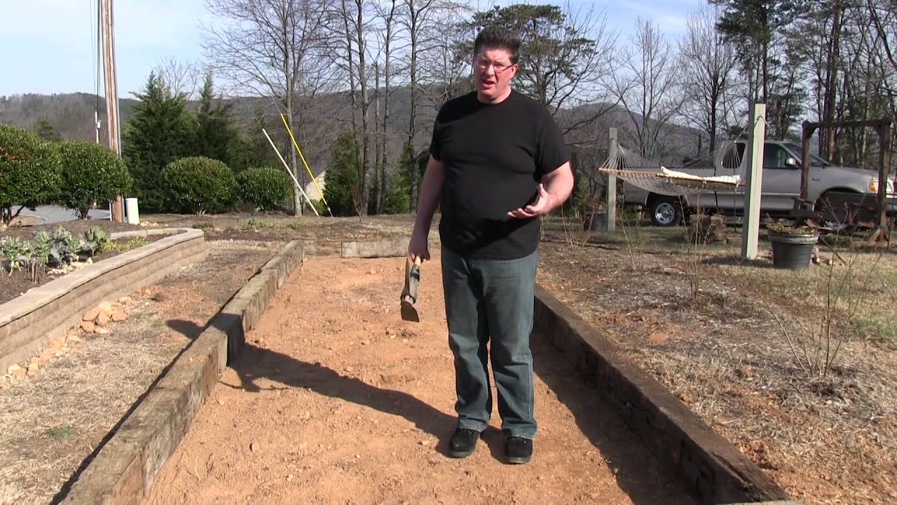 Raised Bed Garden Made Of Railroad Cross Ties Part 1