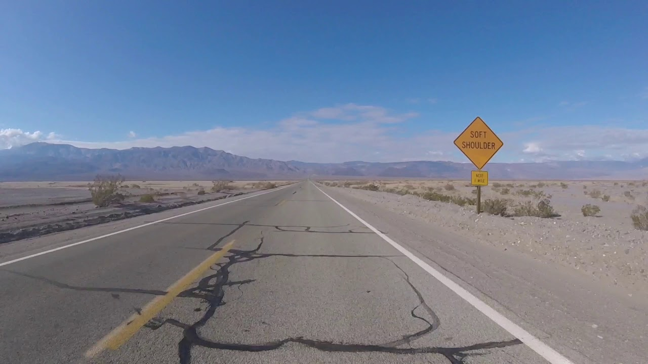Death Valley incredible view on the road