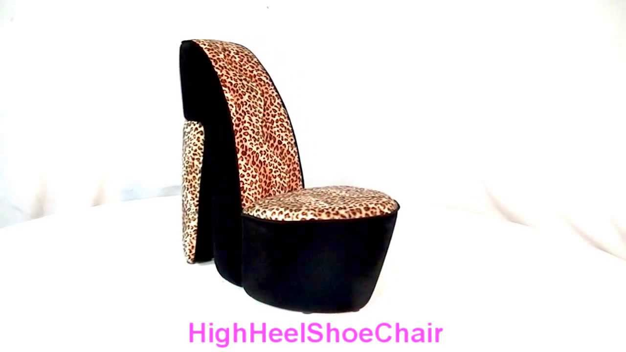 Child Size Leopard High Heel Shoe Chair YouTube