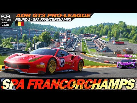 Project Cars 2: League race on the amazing Spa Francorchamps (AOR GT3 PRO rd.2 @ Spa)