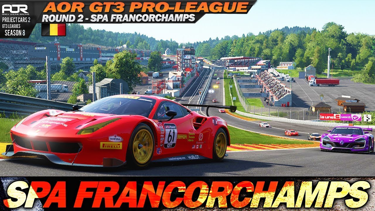 Project Cars 2: League race on the amazing Spa Francorchamps (AOR ...