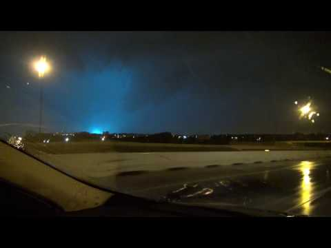 Dangerous Severe Storm Moves Across Oklahoma City, OK. 4/29/17