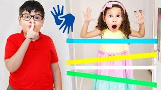 👋🏻 LIBRAS 👋 Valentina e seu irmão fizeram uma nova competição divertida para crianças