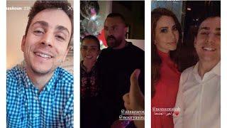 عمرو مسكون مع الممثلة ( نسرين طافش ) واليوتيوبرز ( عزة زعرور، صفاء سرور ، غيث مروان ) 😍