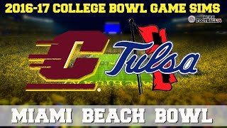 2016 Miami Beach Bowl Sim | Central Michigan vs. Tulsa (NCAA Football 14)