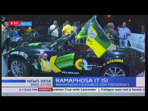 Cyril Ramaphosa: urges election of a leader who will drive the country to victory