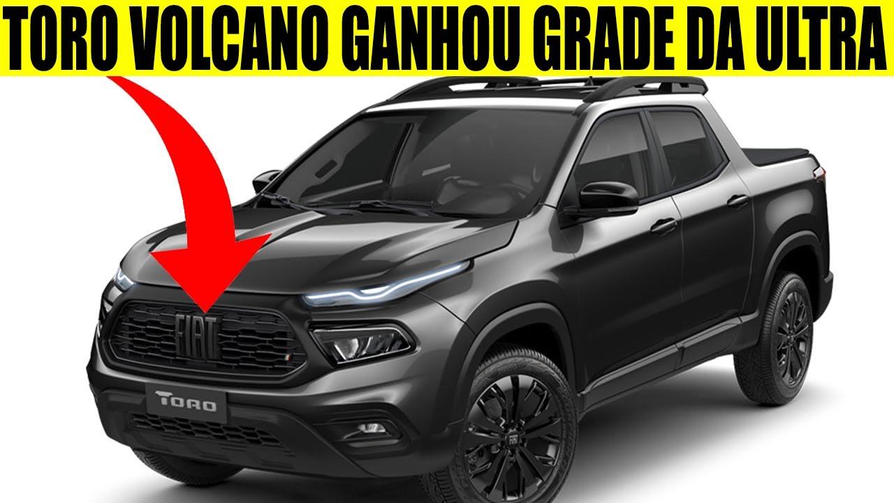 NOVA FIAT TORO VOLCANO GANHOU GRADE DA VERSÃO ULTRA E RANCH