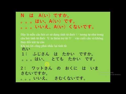 Bài giảng tiếng Nhật Minna no Nihongo- Ngữ pháp bài  8