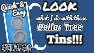 LOOK what I do with these DOLLAR TREE TINS | QUICK and EASY Dollar Tree DIY