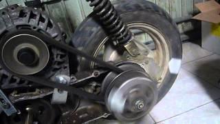 teste de l'embrayage marche arriere scooter 50cc alternateur moteur