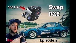 Rx8 drift Swap Rx7 épisode 2 Présentation du moteur + première galère