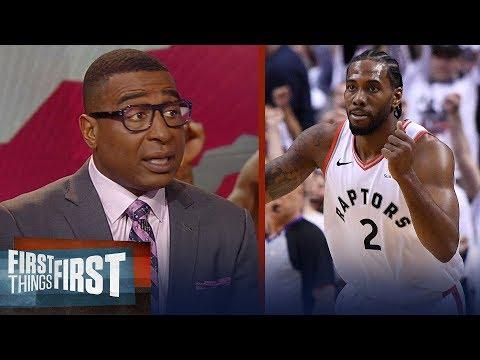 Kawhi's iconic buzzer-beater eliminates 76ers - Cris & Nick react | NBA | FIRST THINGS FIRST