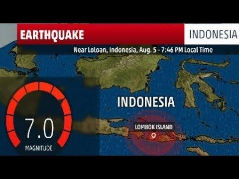 BREAKING 2018 Bali 7.0 Earthquake Indonesia Lombok Island Raw Footage August 2018
