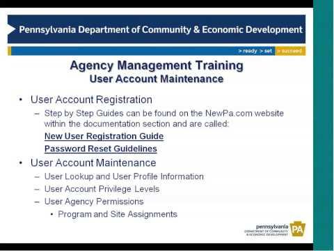 Agency Management Training - Part I