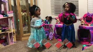 TWINS MUSICAL   SONGS FROM FROZEN ANNA AND ELSA