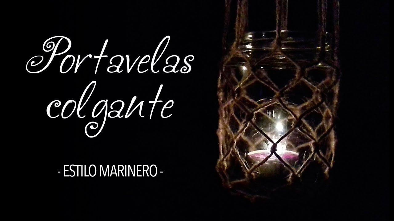 PORTAVELAS COLGANTE - Estilo Red Marinera
