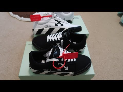 5d7ad2a3 Off-White: Vulc Sneakers White + Black Double Sneaker Unboxing - YouTube