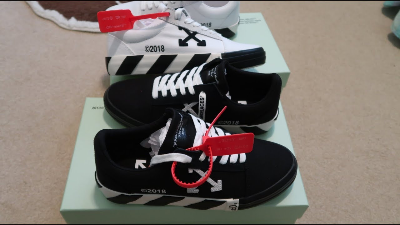 ddc65ec926b5 Off-White  Vulc Sneakers White + Black Double Sneaker Unboxing - YouTube