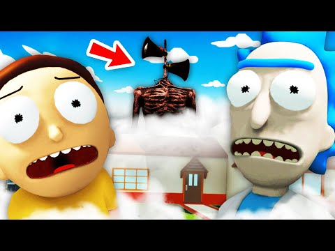NEW Hunting SIREN HEAD With RICK AND MORTY (Rick And Morty: Virtual Rick-Ality Gameplay)
