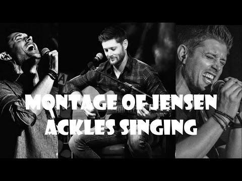 Montage of Jensen Ackles singing