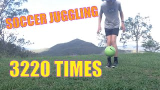 Soccer Juggling RECORD | 3220 Times