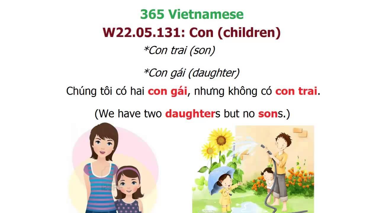 Family words in Vietnamese