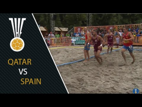 Qatar VS Spain match highlights - 15 July | IHFtv - IHF Men's Beach Handball World Championship