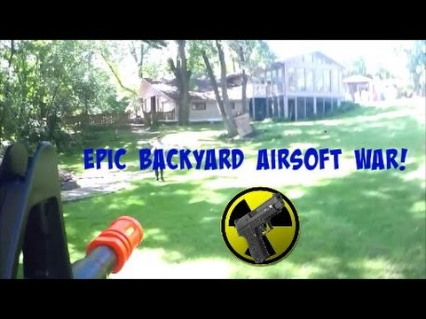 Epic 4v4 Backyard Airsoft War #2 : Team Death Match (TDM ...