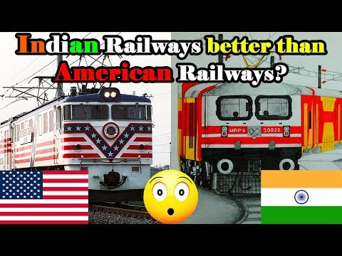 Indian railways vs American railways SHOCKING comparison