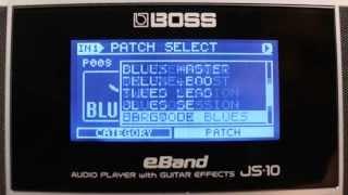 BOSS Tutorial Teil 4: BOSS JS-10 eBAND Audioplayer mit Gitarreneffekten