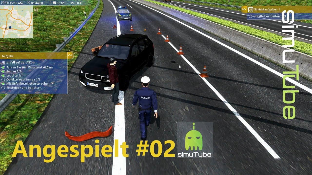Autobahnpolizei-Simulator| - Erster Unfall #02 XXL - Gameplay German ...